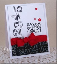 Card by Maureen Plut using Teachers Count from Verve Stamps.  #vervestamps