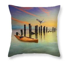 Nature Throw Pillow Sandhill Cranes Accent by FineArtography