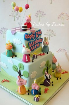 Peppa Pig birthday party Peppa Pig can be a British isles preschool lively television system Tortas Peppa Pig, Bolo Da Peppa Pig, Fiestas Peppa Pig, Cumple Peppa Pig, Peppa Pig Birthday Cake, Birthday Cake Girls, Boy Birthday Parties, Peppa Pig Cakes, 3rd Birthday