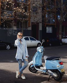 When it's not your Vespa but it matches your outfit