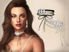 The Sims Resource: Flitter Choker by toksik • Sims 4 Downloads