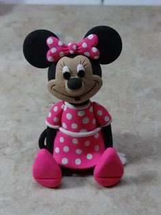 Minnie Mouse Clay Figurine by ClayCreationsbyLaura on Etsy