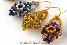 Beaded earring. The Blossoms : Manek-Manek Beads - Jewelry | Kits | Tutorials | Workshops