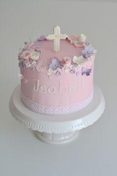Tauftorte-in-rosa-2 Torta Angel, Ideas Bautizo, Buttercream Cake Decorating, First Communion Decorations, Religious Cakes, First Communion Cakes, Baptism Party, Baptism Cakes, Baby Girl Christening