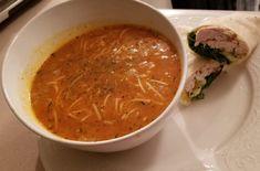 Recette: Soupe aux tomates et aux nouilles. Betty Crocker, Beans, Ethnic Recipes, Food, Parmesan, Tomato Juice, Juice Cup, Cream Soups, Noodles