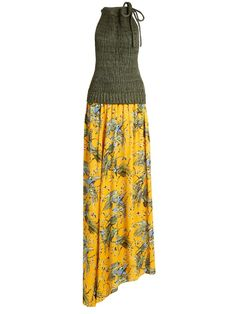 Loewe X Paula's Ibiza bird-print maxi dress