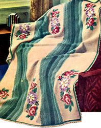 Marie Antoinette Afghan   Make this vintage crochet blanket to instantly transform any room