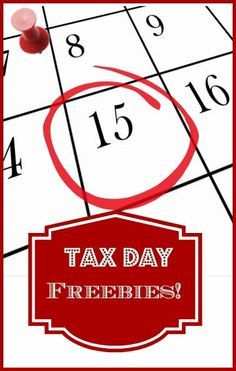 Find out what you can get for FREE on Tax Day!!-->http://www.debtfreespending.com/?p=73633