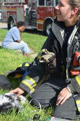 Indianapolis firefighters save dogs from blaze and give oxygen to one using donated Project Breathe™ pet oxygen masks!