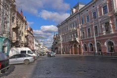 Holovna Str. (Rathausstrasse) I  At the center of the city, Chernivtsi, Ukraine, December 2013.