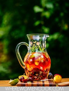 Stone Fruit Sangria by Aimee Wimbush-Bourque. Recipe in Where Women Cook magazine Jun/Jul/Aug 2015 Vol.5 Issue 3.