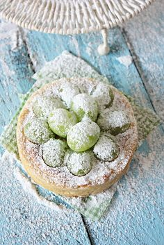 fresh fruit tart with hazelnut filling