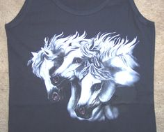 Flaring White Horses Ladies' Tank Top