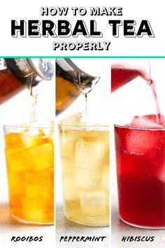 5 Easy Steps to Make Herbal Tea Properly Herbal Iced Tea Recipe, Iced Tea Recipes, Tea Sandwiches, Finger Sandwiches, High Tea Food, Homemade Tea, Lavender Tea, Hibiscus Tea, Chamomile Tea