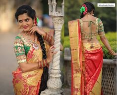 bridal silk saree by Mugdha art studio