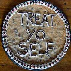 Treat yo self.  LOL....I love this I definitely need one of these!  I wonder if they got this idea from Parks & Recreation??