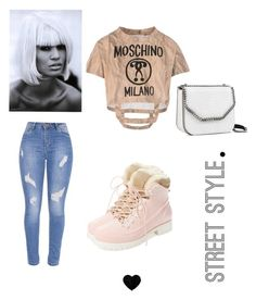 """""""Spring Street"""" by candicee-mariee on Polyvore featuring Moschino, Australia Luxe Collective and STELLA McCARTNEY"""