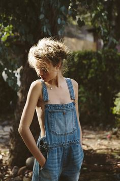 Overalls: a wardrobe treasure. Wear with a colorful bando. #urbanoutfitters