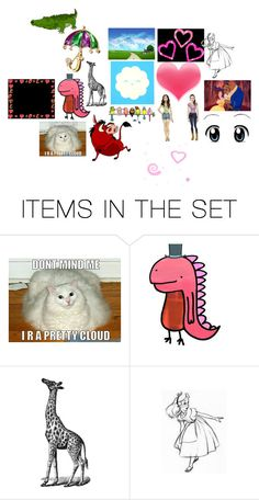 """""""Random"""" by signerobertson ❤ liked on Polyvore featuring art, expression, clip art, stuff, background, cute, childish and random"""