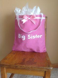 Big Sister (or brother) bag! Cute idea!
