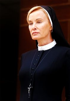 American Horror Story, Asylum. Jessica Lange A strong older female character represented in American Horror Story. She wasn't the nicest character, but she was tenacious and she came around in the end.
