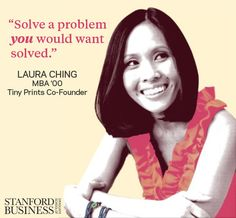 Tiny Prints Co-Founder Laura Ching (MBA shares the best business advice she ever received. Stationery Companies, Custom Stationery, Business Advice, Business Women, Corporate Values, Women In Leadership, Tiny Prints, Achieve Success, Co Founder