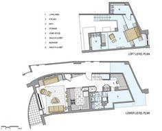 interior therapy :: 트럭 차고를 개조해서 만든 복층 아파트 인테리어/평면도 Small Apartments, Small Spaces, Room Inspiration, Interior Inspiration, Hidden Rooms, Plan Drawing, Space Interiors, Secret Rooms, Small Apartment Decorating