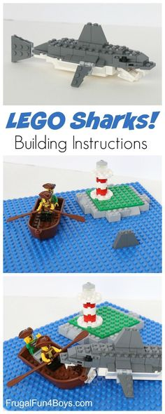 How to Build an Awesome LEGO Shark - LEGO Building Instructions