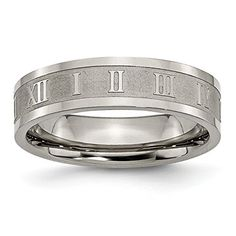 Jewelry & Watches Bridal & Wedding Party Jewelry Titanium Grooved Beaded 6mm Wedding Ring Band Size 7.00 Fashion Jewelry Gifts Superior Materials