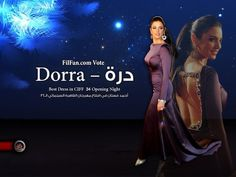 Tunisian Actress Dorra wins best dress at Cairo International Film Festival 2010 in Malak El Ezzawy dress