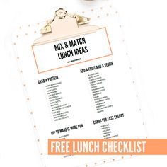 No Sandwiches!!  Here are our top lunch ideas for you to mix and match.