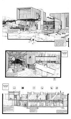 Creative Architecture, Architecture Graphics, Concept Architecture, Architecture Design, Architect Sketchbook, Survival School, Building Sketch, Interior Design Sketches, House Sketch