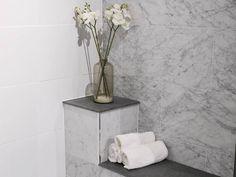 En miks av marmor - skaper en drømmende og luksuriøs følelse på badet! #flisekompaniet