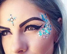 Festival bindi and glitter inspiration                                                                                                                                                                                 More