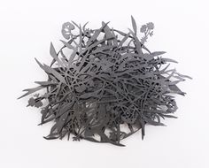 Marian Hosking Brooch: River red gum 2013 Blackened silver