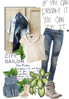 """Patched denim"" by cerry71 ❤ liked on Polyvore"