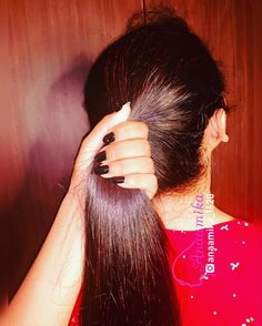 Indian Long Hair Braid, Long Hair Ponytail, Braids For Long Hair, Ponytail Hairstyles, Long Silky Hair, Super Long Hair, Big Bun, Hair Pulling, Beautiful Long Hair
