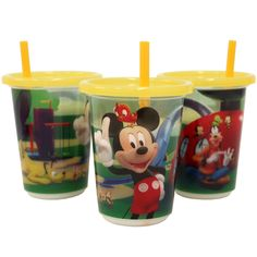 Mickey Mouse Clubhouse Disposable Straw Cups (3) $5.82