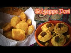 Golgappa - Puri for Pani puri Bread Dishes, Types Of Bread, Food Videos, Bread Recipes, Muffin, Breakfast, Morning Coffee, Muffins