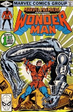 Marvel premiere 55 NM 1985 Special And Solo Wonder man 2 Issue Lot Avengers Comics, Hq Marvel, Marvel Comic Books, Marvel Characters, Marvel Heroes, Comic Books Art, Comics Und Cartoons, Fun Comics, Dc Universe