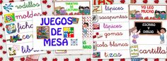Recursos para el aula: Carteles y letreros para decorar los rincones del aula y tener ordenado los materiales de clase