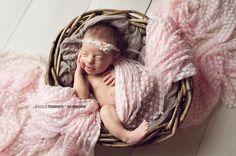 Emma Floral Tieback Newborn Flower Tieback Baby by ItsyBitsyBlooms, $14.00