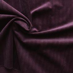 Tissu en velours côtelé mauve - Les tissus du Chien Vert