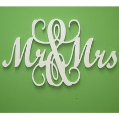 Mr & Mrs Monogram Wall Sign.