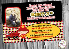 Printable FUN AND FIRETRUCKS Party Collection by moomootutu, $30.00