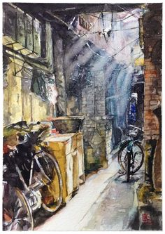 Hanoi Alley, Vietnam. by longtruong2790.deviantart.com on @DeviantArt