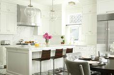 Mix and Chic: Beautifully inspiring designer kitchens! #laylagrayce #kitchen #white