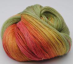 Gradient Yarn, Alpaca / Silk , 120gr by yarnandfibre on Etsy