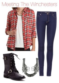 """""""Meeting the Winchesters"""" by nicholerodz ❤ liked on Polyvore"""
