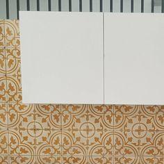 cement tile backsplash by tegel panjen